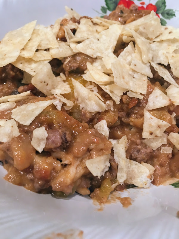 Tex Mex Salsa Enchilada Bake